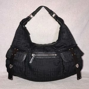 GIVENCHY Double Front Pocket Monogrammed Hobo